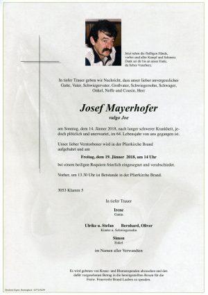 Portrait von Herr Josef MAYERHOFER