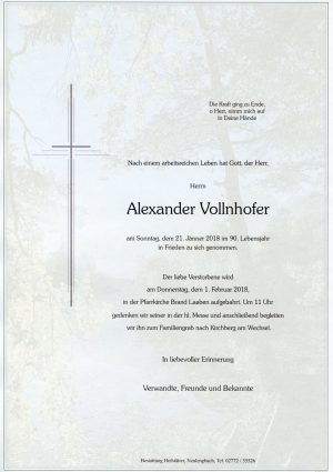 Portrait von Herr Alexander VOLLNHOFER