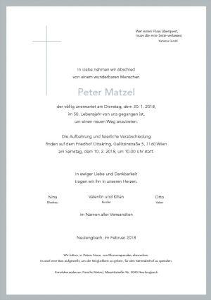Portrait von Herr Peter MATZEL