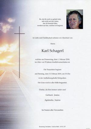 Portrait von Herr Karl SCHAGERL