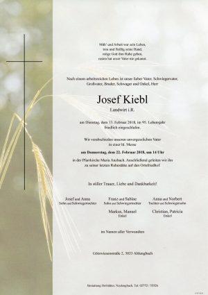 Portrait von Herr Josef KIEBL