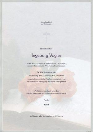 Portrait von Frau Ingeborg VOGLER