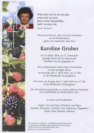 Portrait von Frau Karoline GRUBER