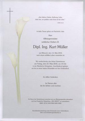 Portrait von Herr WHR DI Kurt MÜLLER