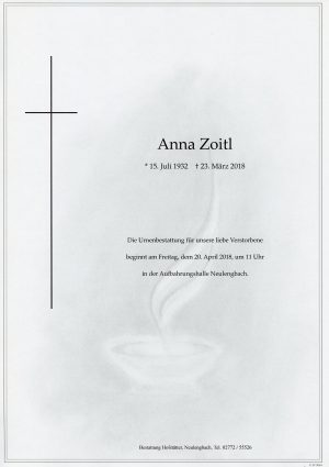 Portrait von Neulengbach Frau Anna ZOITL