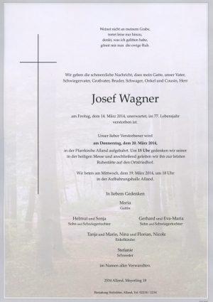 Portrait von Alland Herr Josef Wagner