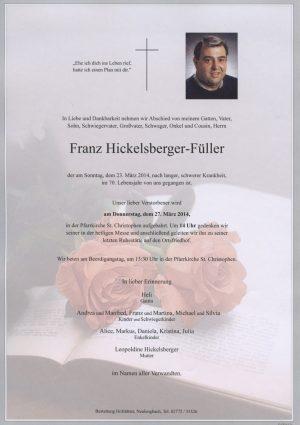 Portrait von St. Christophen Herr Franz Hickelsberger