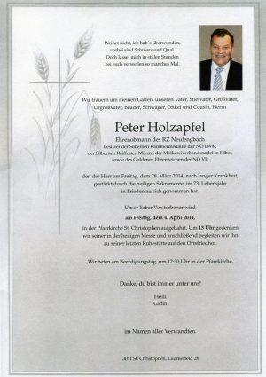 Portrait von St. Christophen Herr Peter Holzapfel