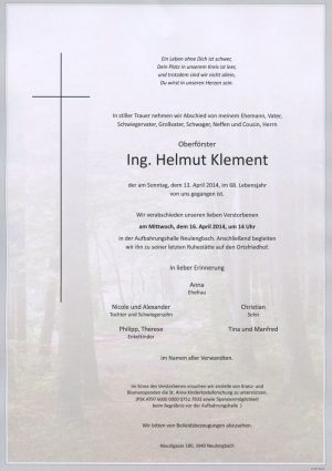 Portrait von Neulengbach Herr Oberförster Helmut Klement