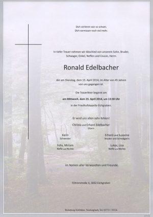 Portrait von Eichgraben Herr Ronald Edelbacher