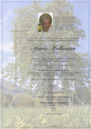Portrait von Brand Laaben Frau Maria Mallmann