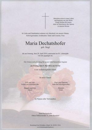 Portrait von Alland Frau Maria Dechatshofer