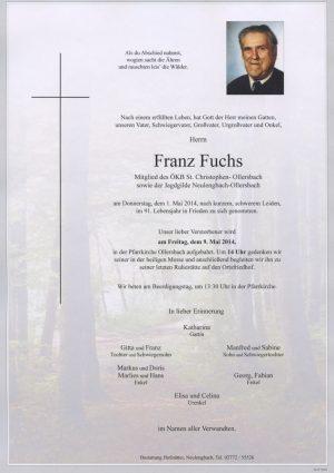 Portrait von Ollersbach Herr Franz Fuchs