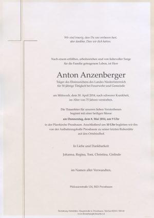 Portrait von Pressbaum Herr Anton Anzenberger