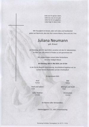 Portrait von Neustift Frau Innermanzing  Julianna Neumann
