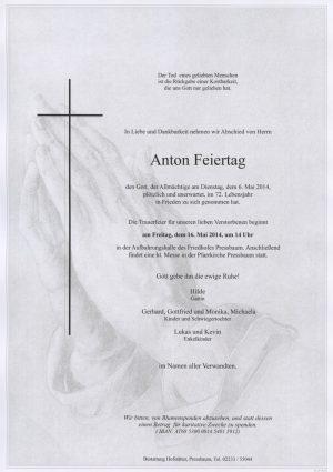 Portrait von Pressbaum Herr Anton Feiertag