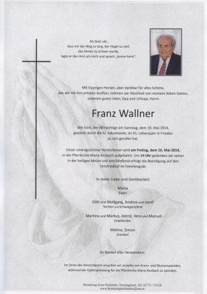 Portrait von Maria Anzbach Herr Franz Wallner