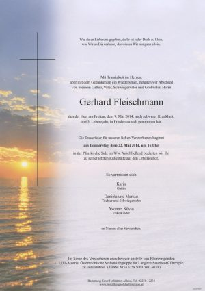 Portrait von Sulz im Wienerwald Herr Gerhard Fleischmann