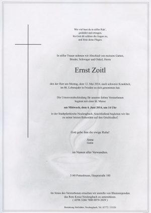 Portrait von Neulengbach Herr Ernst Zoitl  Mittwoch