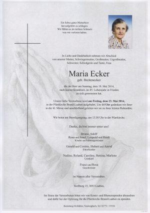 Portrait von Brand Laaben Frau Maria Ecker