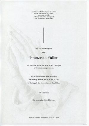 Portrait von Maria Anzbach Frau Franziska Fidler