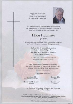 Portrait von Ollersbach Frau Hilde Hubmayr