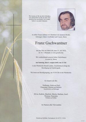 Portrait von Brand-Laaben Herr Franz Gschwantner