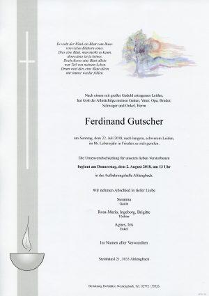 Portrait von Altlengbach Herr Ferdinand Gutscher