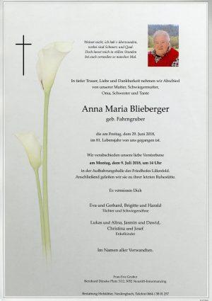 Portrait von Lilienfeld Frau Anna Maria Blieberger