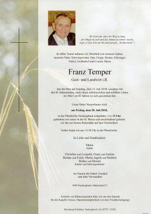 Portrait von Neulengbach Herr Franz Temper