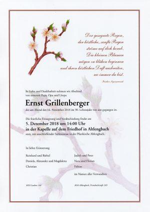 Portrait von Altlengbach Herr Ernst GRILLENBERGER