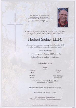 Portrait von Laab im Walde Herr Herbert Steiner LL.M.
