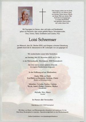 Portrait von Neulengbach Frau Loisi SCHREMSER