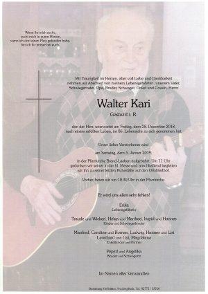Portrait von Brand Laaben Herr Walter KARI