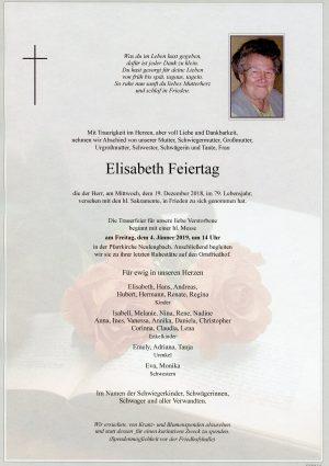 Portrait von Neulengbach Frau Elisabeth Feiertag