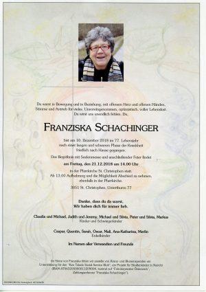 Portrait von St. Christophen Frau Franziska SCHACHINGER