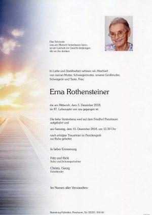 Portrait von Pressbaum Frau Erna ROTHENSTEINER
