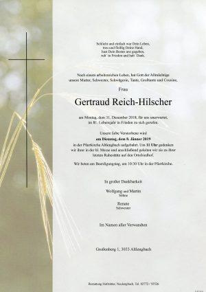 Portrait von Altlengbach Frau Gertraud Reich-Hilscher