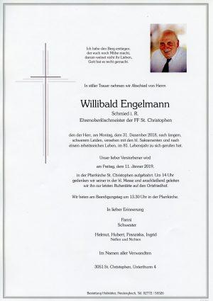 Portrait von St. Christophen Herr Willibald Engelmann