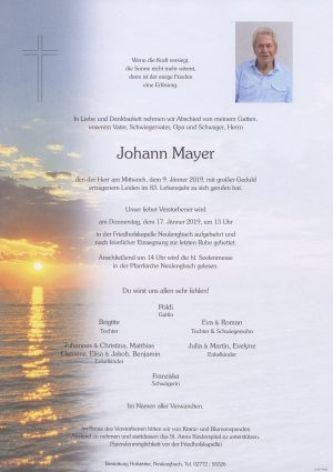 Portrait von Neulengbach Herr Johann Mayer