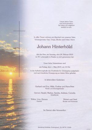 Portrait von St. Christophen – Herr Johann Hinterhölzl