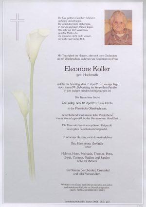 Portrait von Ollersbach – Frau Eleonore Koller