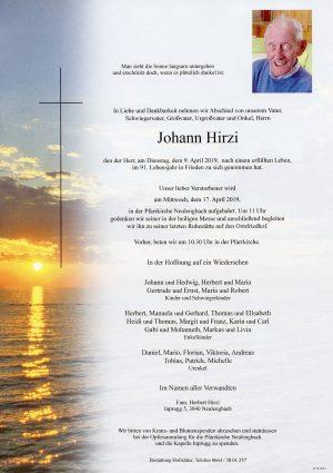 Portrait von Neulengbach – Herr Johann Hirzi