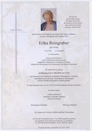 Portrait von Eichgraben – Frau Erika Reingruber