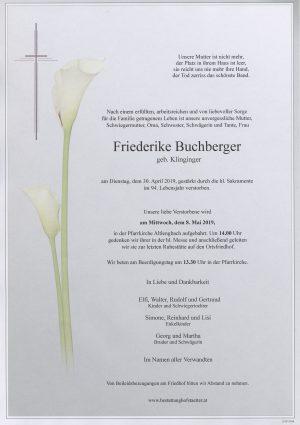 Portrait von Altlengbach – Frau Friederike Buchberger