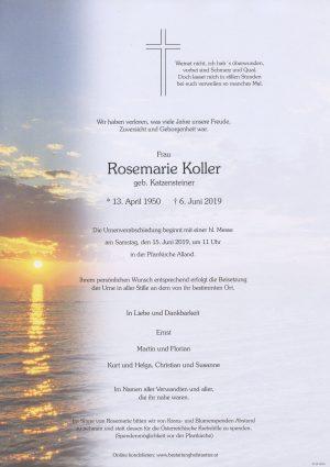 Portrait von Alland – Frau Rosemarie Koller