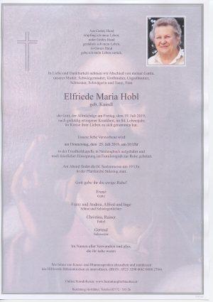 Portrait von Neulengbach – Frau Elfriede Maria Hobl