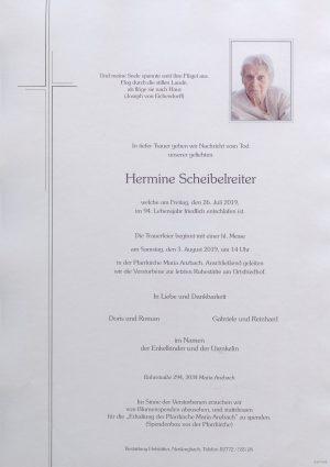 Portrait von Maria Anzbach – Frau Scheibelreiter Hermine