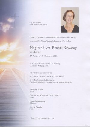 Portrait von Eichgraben – Frau Mag. med. vet. Beatrix Krawany