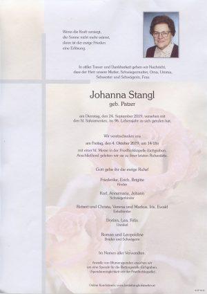 Portrait von Eichgraben – Frau Johanna Stangl